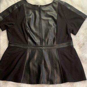 Worthington 0X Plus Size top in black NWT